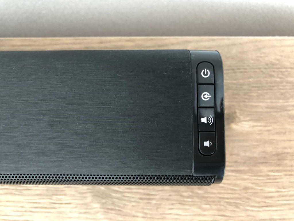 サウンドバー スピーカー taotronics 低価格サウンドバー 安いサウンドバー 操作ボタン