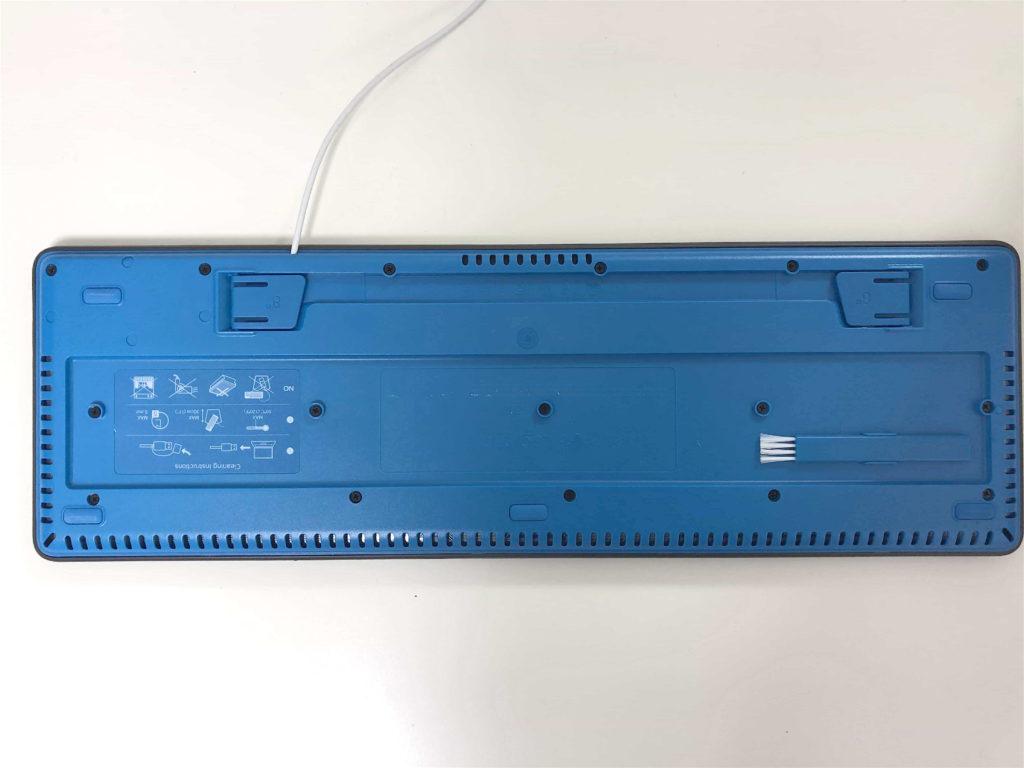 ロジクール Logicool 水洗い ウォッシャブル キーボード ブラシ 底面