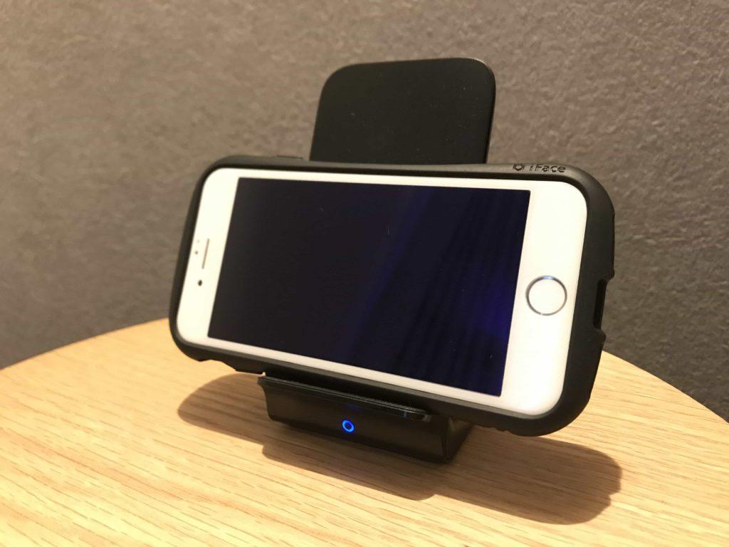 ワイヤレス充電器 充電器 ANKER アンカー Qi PowerWave 7.5 Stand 横置き