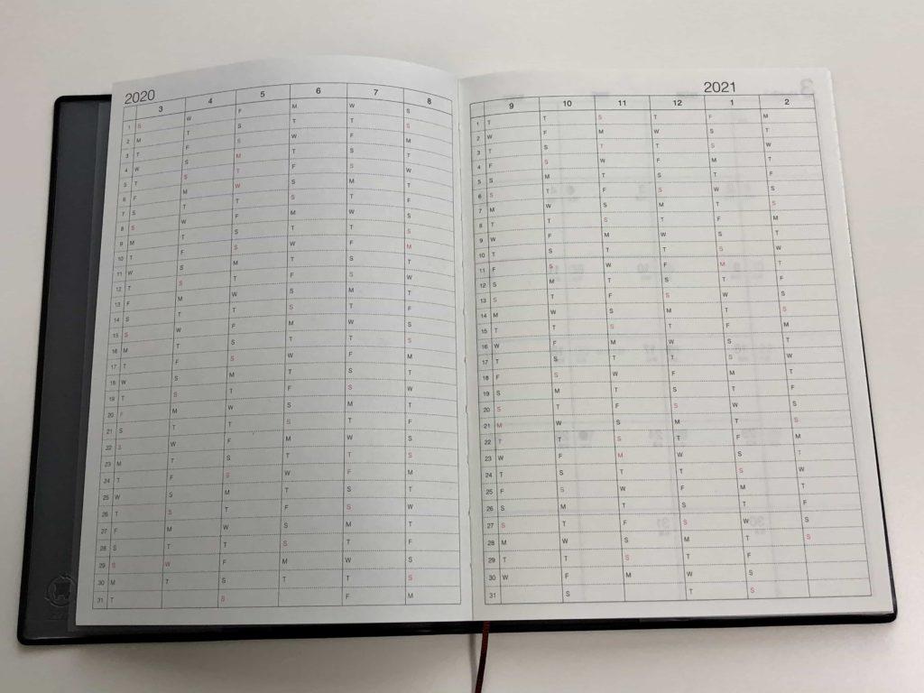 notebook muji 無印 無印良品 手帳 mac cafe B6 ウィークリー マンスリー フラット製本