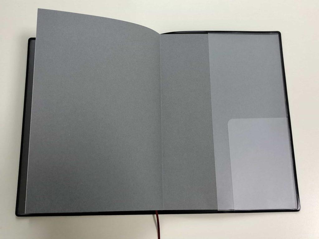 notebook muji 無印 無印良品 手帳 B6 ウィークリー マンスリー フラット製本 カードポケット
