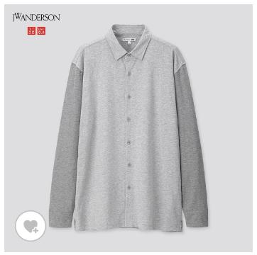 ユニクロ uniqlo アンダーソン JW ANDERSON MEN メンズ シャツ ウォッシュジャージーシャツ(長袖) 2020