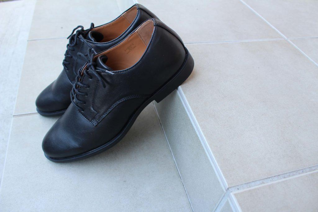 GU 革靴 アクティブスマートダービーシューズ ビジネスシューズ 合皮 ジーユー シューズ 靴 スーツ ブラック BLACK