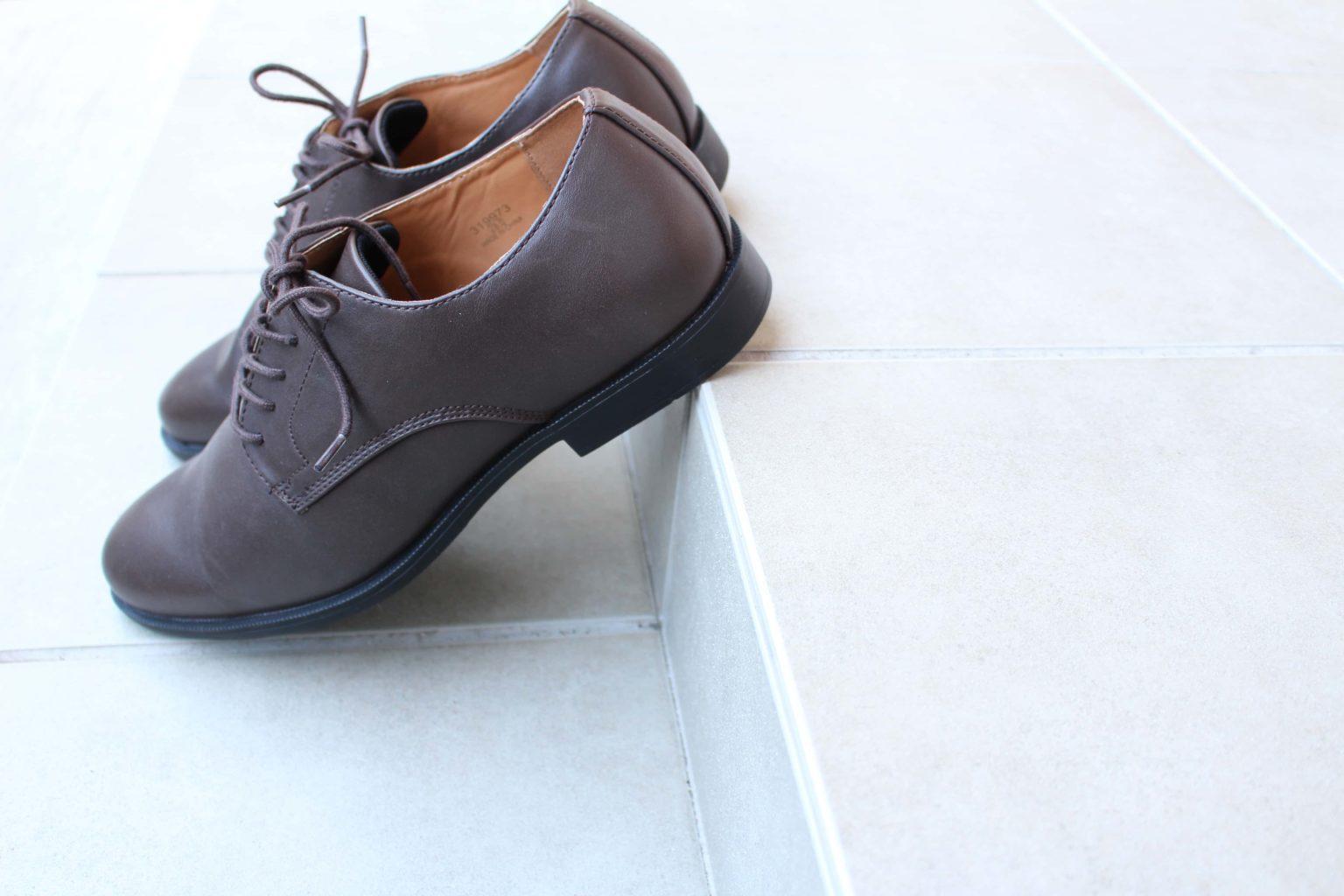 GU 革靴 アクティブスマートダービーシューズ ビジネスシューズ 合皮 ジーユー シューズ 靴