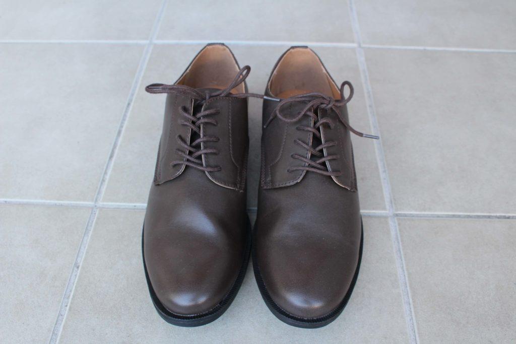 GU 革靴 アクティブスマートダービーシューズ ビジネスシューズ 合皮 ジーユー シューズ 靴 合皮 フェイクレザー 合成皮革