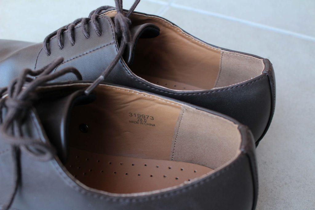 GU 革靴 アクティブスマートダービーシューズ ビジネスシューズ 合皮 ジーユー シューズ 靴  クッション
