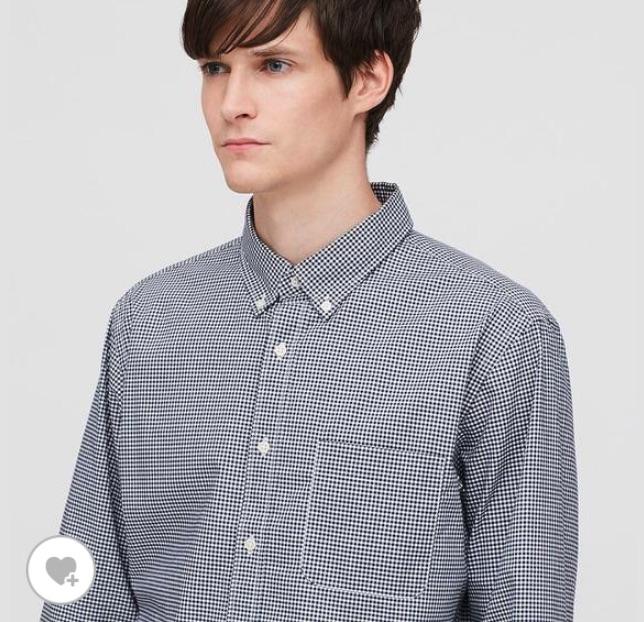 チェックシャツ ユニクロ UNIQLO エクストラファインコットンブロードチェックシャツ