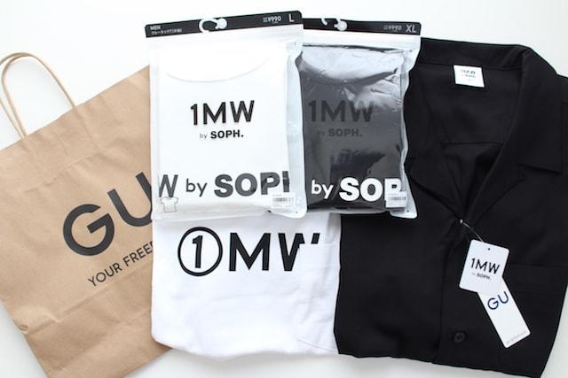 GU SOPH SOPH. SOPNET. 1MH ジーユー ソフ コラボ コラボレーション 2020 ビッグT(5分袖) コットンインナーT オープンカラーシャツ