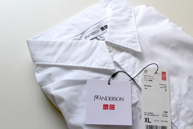 uniqlo ユニクロ エクストラファインコットンブロードオーバーサイズシャツ EFCブロードオーバーサイズシャツ 白シャツ jwanderson JWアンダーソン ユニクロコラボ オーバーサイズ