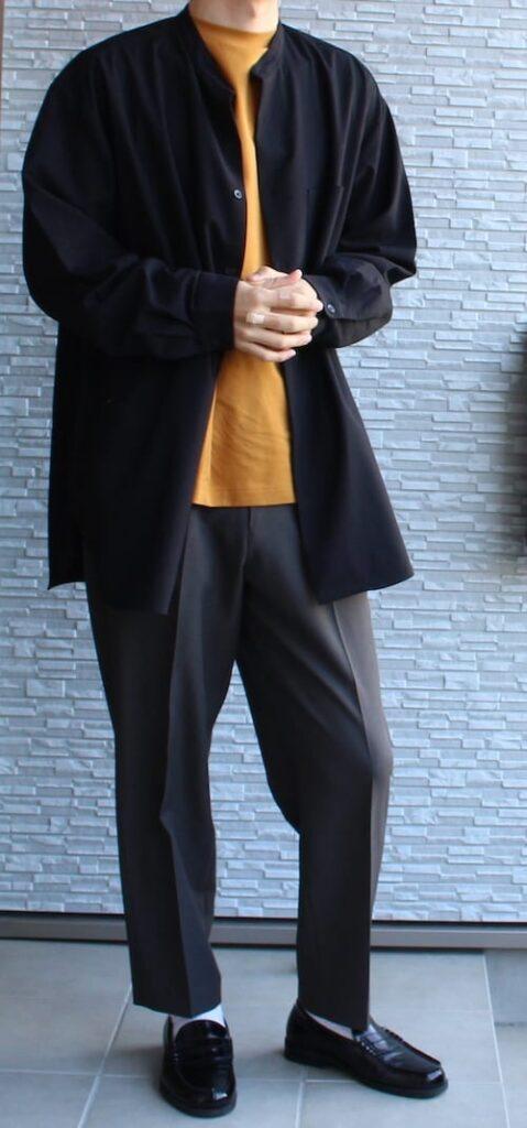 uniqlo uniqlou ユニクロ ユニクロユー ユニクロU ヒートテックコットンクルーネックT(長袖) ワイドフィットテーパードパンツ AAA ローファー サンエープラス