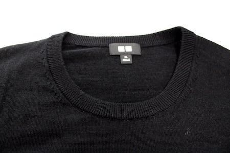 ユニクロ UNIQLO エクストラファインメリノクルーネックセーター(長袖) エクストラファインメリノ ニット セーター ブラック