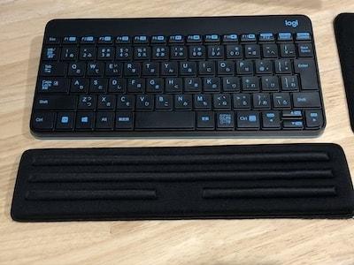 MK240 MK245 NANO MK245nBK MK245n ソリッドブラック ワイヤレスキーボード&マウス ワイヤレスキーボード ワイヤレスマウス テンキーレス 無線キーボード ロジクール logicool logi daiso ダイソー キーボードレスト